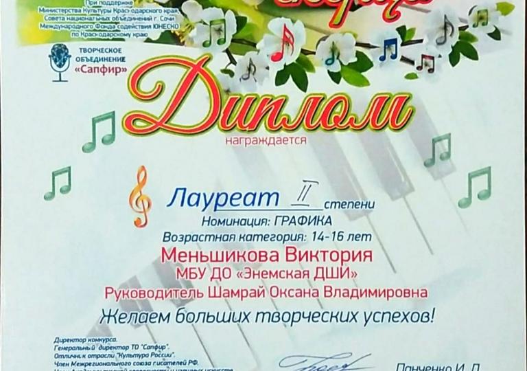 Весеннее скерцо Меньшикова